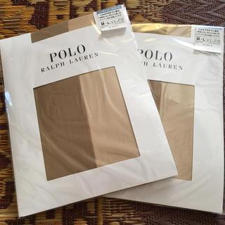 ポロラルフローレン(POLO RALPH LAUREN)の新品 POLO ラルフローレン ストッキング M〜L 2足 ナイガイ(タイツ/ストッキング)