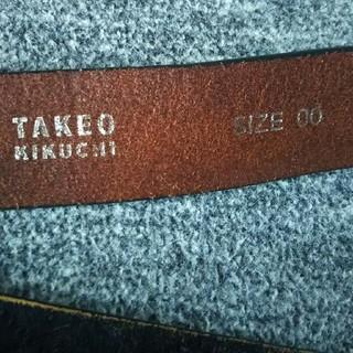 タケオキクチ(TAKEO KIKUCHI)のTAKEOKIKUCHH   🌟メンズベルト(ベルト)