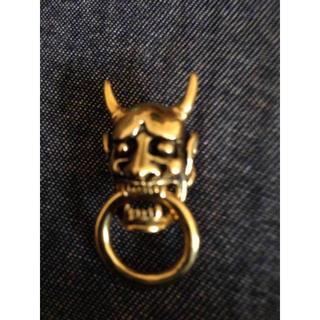 真鍮製⭐️ドロップハンドル⭐️般若⭐️鬼⭐️和柄(ウォレットチェーン)