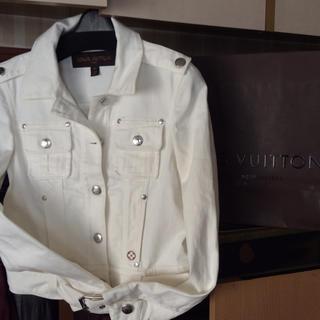 ルイヴィトン(LOUIS VUITTON)の美品ルイヴィトン デニムホワイトジャケット オールシーズン使えます4ポケット(Gジャン/デニムジャケット)