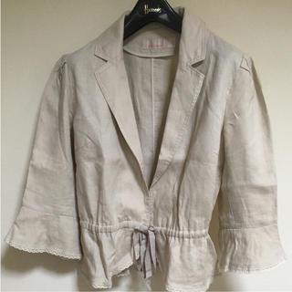 GRAY MAGIC 麻 七分袖 ジャケット(テーラードジャケット)