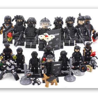 即日配達!特殊部隊 SWAT 大量武器パーツ ミニフィグ 8体セット☆レゴ対応(SF/ファンタジー/ホラー)