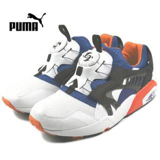 プーマ(PUMA)のプーマ PUMA ディスクブレイズ 3Dファストフォワード 2 ホワイトオレンジ(スニーカー)