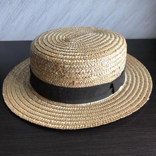 麦わら帽子 レディース ストローハット 古着 夏物(麦わら帽子/ストローハット)