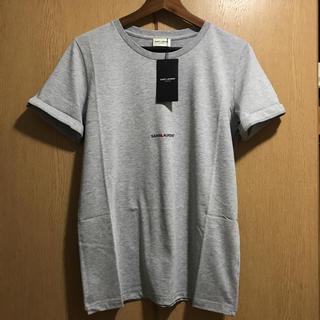 サンローラン(Saint Laurent)の新品 サンローラン パリ xs グレー Tシャツ ロゴ(Tシャツ/カットソー(半袖/袖なし))