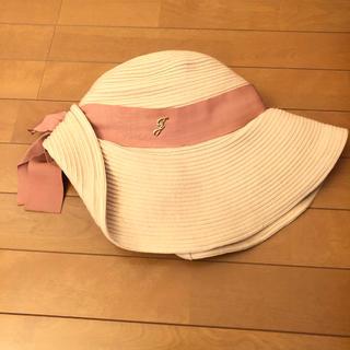 ジルスチュアート(JILLSTUART)の♡リボン帽子♡(麦わら帽子/ストローハット)