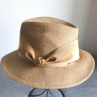バーニーズニューヨーク(BARNEYS NEW YORK)の美品 アシーナニューヨーク カミラ 帽子(麦わら帽子/ストローハット)