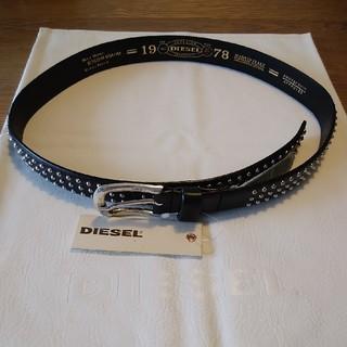 ディーゼル(DIESEL)の新品未使用 DIESEL スタッズベルト サイズ85 イタリア製(ベルト)