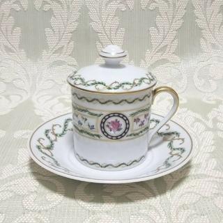 アビランド(Haviland)のアビランド リモージュ ルーブシエンヌ 蓋付きカップ&ソーサー(クリームカップ)(食器)