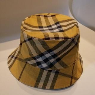BURBERRY - バーバリーレディース帽子 バーバリー帽子 バーバリーハット 黄色タータンチェック