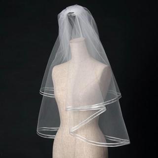 美品*ウィズホワイト ウェディングベール ショートベール(ウェディングドレス)