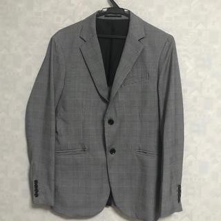 ザラ(ZARA)の美品 テーラージャケット ギンガムチェック グレー(テーラードジャケット)