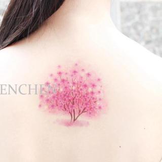 【即購入OK】桜の木  タトゥーシール(その他)