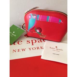 ケイトスペードニューヨーク(kate spade new york)のケイトスペード/トゥーカン鳥の真っ赤なコインケース 小銭入れ(コインケース)