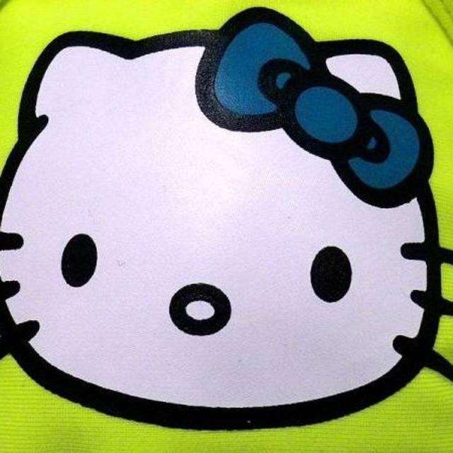 サンリオ(サンリオ)のハローキティ kittyフェイス柄ビキニ水着 イエロー XS レディースの水着/浴衣(水着)の商品写真