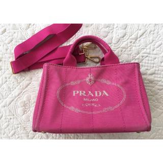 5c5a66b3ad67 プラダ(PRADA)のPRADA*プラダ カナパ トート キャンバス*ピンク(トートバッグ