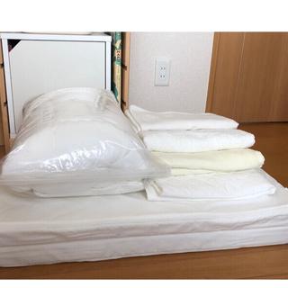 ムジルシリョウヒン(MUJI (無印良品))の無印良品のベビーお布団 7点セット(無地)+ジェルトロン枕付き(ベビー布団)