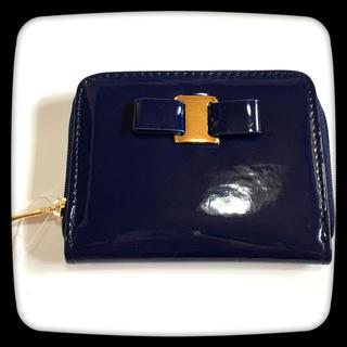【新品】リボン☆エナメル☆お財布☆財布☆小銭入れ☆短財布☆ミニ財布☆コインケース(コインケース)