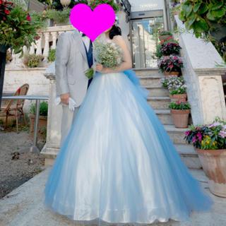 ウェディング カラードレス  ブルー 145〜160cmの方☆(ウェディングドレス)