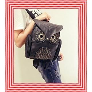 フクロウ リュック サック カジュアル バッグ 鞄 PUレザー レディース(リュック/バックパック)