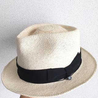 カシラ(CA4LA)の美品 カシラ ca4la 中折れ ストローハット 麦わら帽子 knox(ハット)