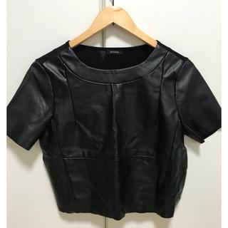 エモダ(EMODA)のEMODA 革Tシャツ(Tシャツ(半袖/袖なし))