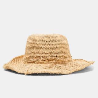 ザラ(ZARA)の完売品 ザラ ラフィアハット ラフィア帽子 リボン 麦わら帽子 ビームス KBF(麦わら帽子/ストローハット)
