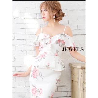 ジュエルズ(JEWELS)のいいね禁止。 キャバドレス 花柄 ミニドレス オフショル(ナイトドレス)
