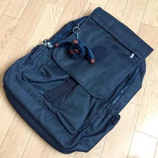 キプリング(kipling)の【新品未使用】キプリング リュック HARUKO Jeans True Blue(リュック/バックパック)
