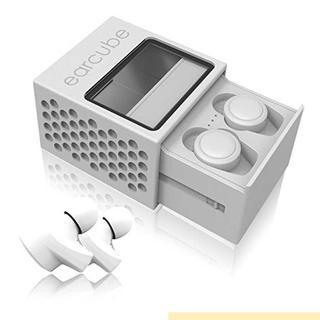 完全ワイヤレスイヤホン earcube (イヤーキューブ) 最小最軽量4.5(ヘッドフォン/イヤフォン)
