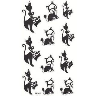 タトゥーシール ボディーシール 猫 キャット(その他)