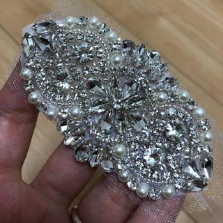 結婚式 ビジュー ブレスレット ブライダル(ウェディングドレス)