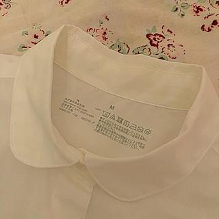 ☆新品☆ MUJI 丸襟 ブラウス 長袖 Mサイズ