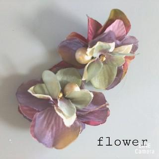 紫陽花 イヤリング ピアス