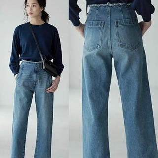 AZUL by moussy - AZUL by moussy ウエストカットオフハイライズワイド/S