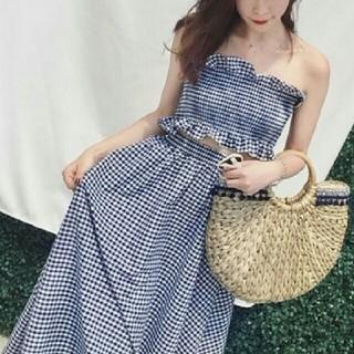 ザラ(ZARA)の~新品 チェック ビスチェ&スカート 2点セット ~(セット/コーデ)