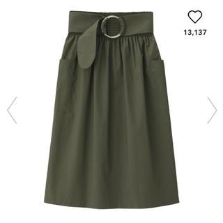 ジーユー(GU)のGU☆ベルト付きスカート(ひざ丈スカート)