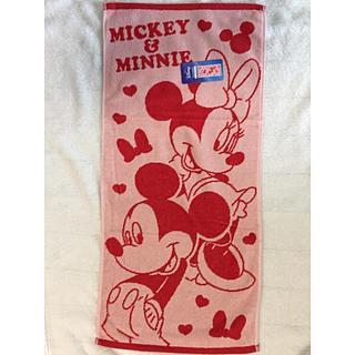 ディズニー(Disney)のDisneyミニーロングフェイスタオル(新品、未使用)(タオル)
