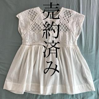 ザラ(ZARA)のZARA レーストップス(カットソー(半袖/袖なし))