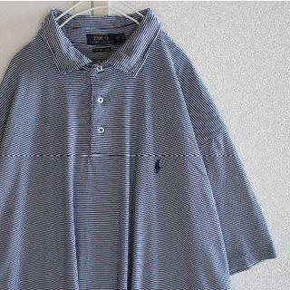 ポロラルフローレン(POLO RALPH LAUREN)のUS ポロ ラルフローレン navywh ボーダー 半袖 ポロシャツ 2XB(ポロシャツ)