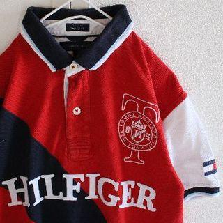 トミーヒルフィガー(TOMMY HILFIGER)のUS トミーヒルフィガー 刺繍 ワッペン 半袖 ポロシャツ M(ポロシャツ)