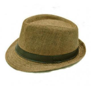 ハット帽 帽子 ユニセックス ブラウン(ハット)