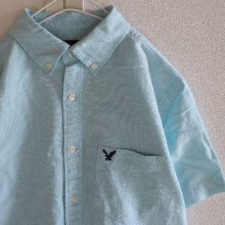 アメリカンイーグル(American Eagle)のUS アメリカンイーグル lightBlue 半袖 シャツ S(シャツ)