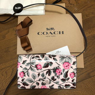 コーチ(COACH)のコーチ ショルダー ウォレット 花柄(財布)