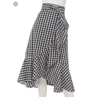 アプワイザーリッシェ(Apuweiser-riche)のラッフル ギンガム スカート(ひざ丈スカート)