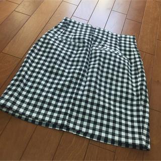 ジーユー(GU)のジーユー ♡ ギンガムチェックタイトミニスカート(ミニスカート)