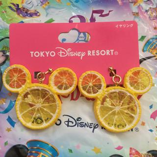 Disney - 大人気*新品*ディズニー フルーツ レモン ミッキー イヤリング