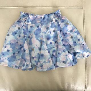 GU - 120 GU スカート 花柄 ブルー 女の子
