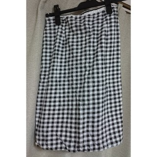 USED★チェックタイトスカート(ひざ丈スカート)