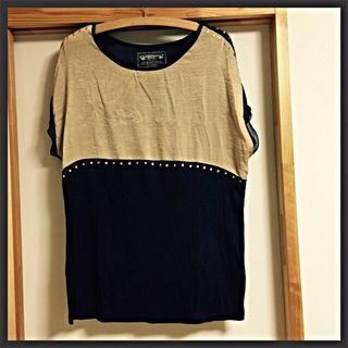 ミスティウーマン(mysty woman)のバイカラー☆大人トップス(Tシャツ(半袖/袖なし))